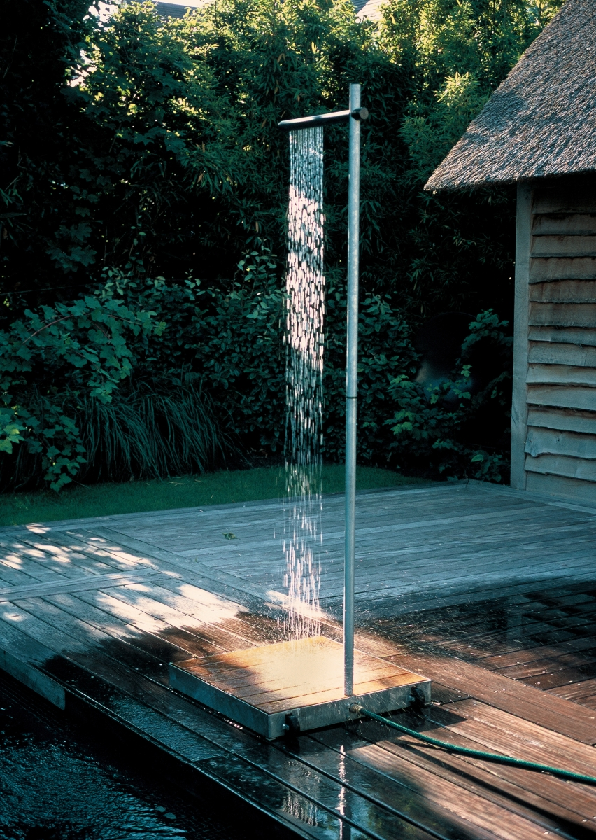 How to make an outdoor shower - 202